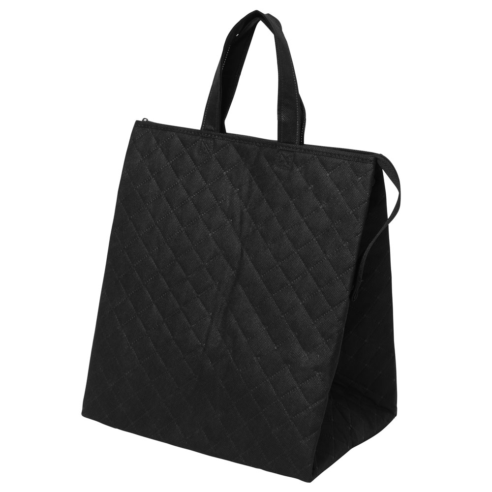 保冷バッグ カラークールキルトバッグ大:黒のメイン画像