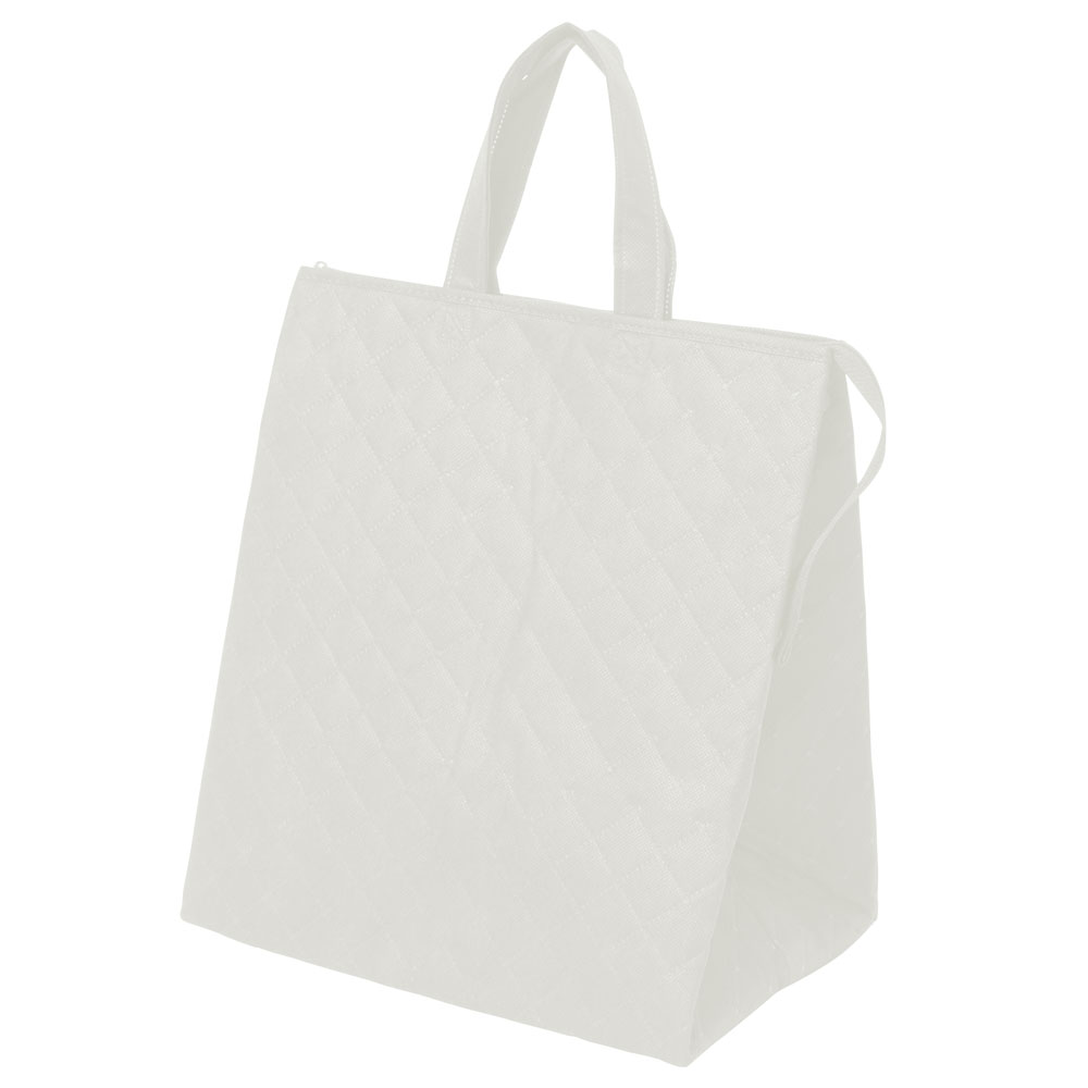 保冷バッグ カラークールキルトバッグ大:白のメイン画像