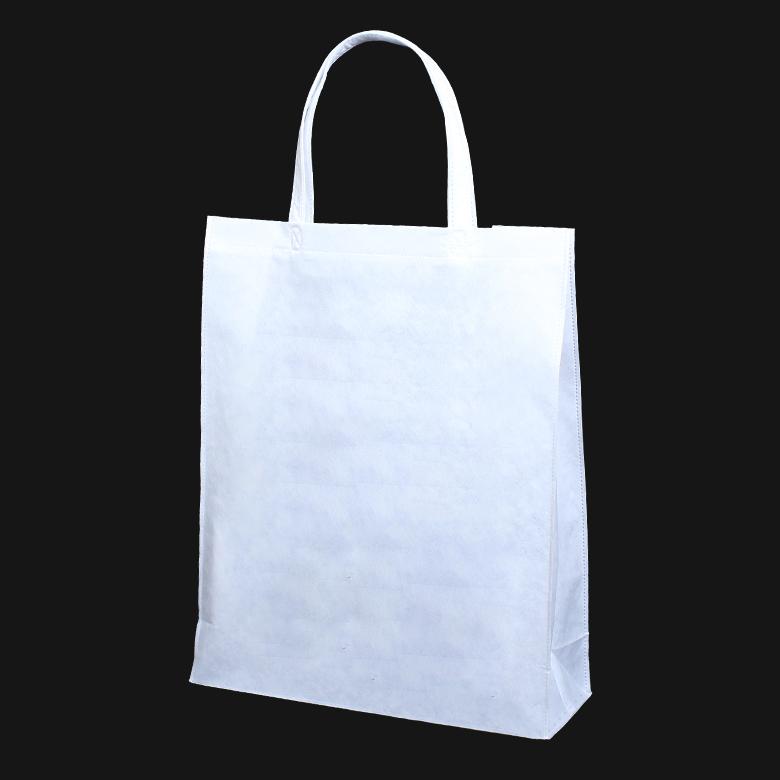 フルカラー不織布バッグ 持ち手付き 角底A4縦