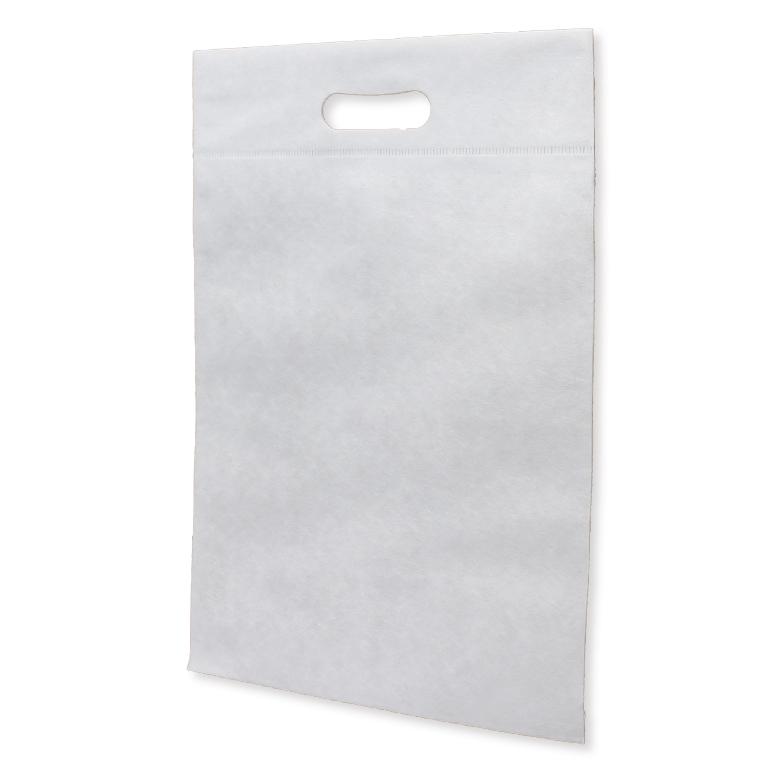 フルカラー不織布バッグ 小判抜き マチなしA4縦:白の商品画像
