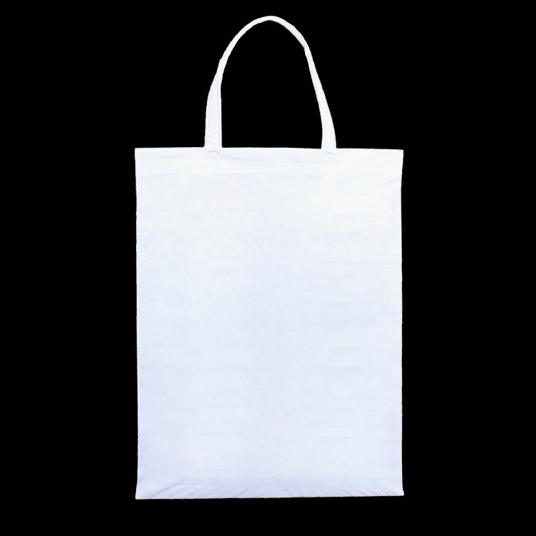 フルカラー不織布バッグ 持ち手付き マチなしA4縦
