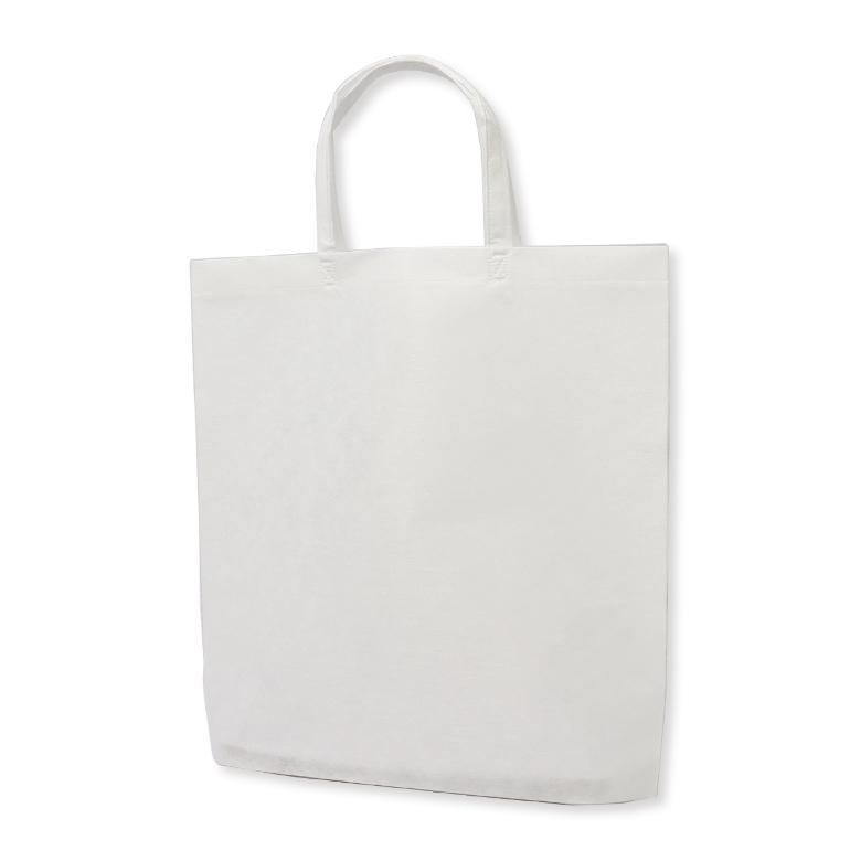 フルカラー不織布バッグ 持ち手付き 底マチA4縦 :白の商品画像