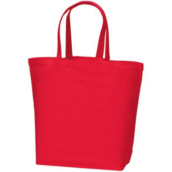 コットンキャンバストート(L):レッドの商品画像