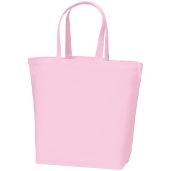 コットンキャンバストート(L):ピンクの商品画像