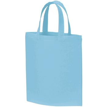 A4コットンバッグ:ライトブルーの商品画像
