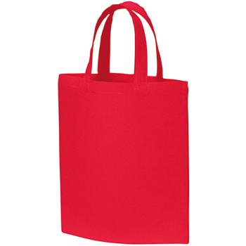 A4コットンバッグ:レッドのイメージ画像