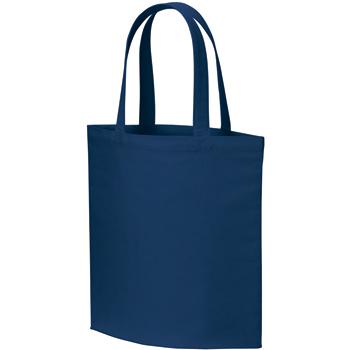 ライトコットンキャンバスバッグ(L):ネイビーの商品画像