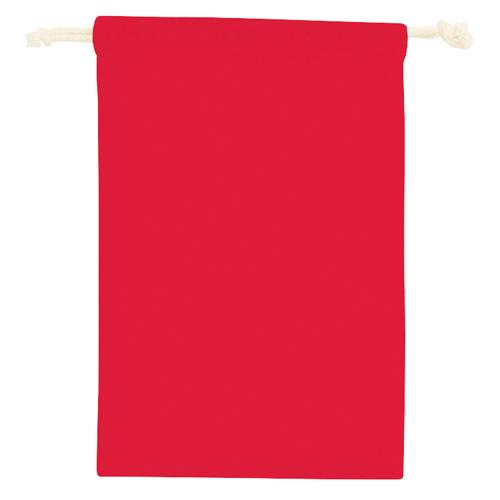コットン巾着(M):レッド のイメージ画像