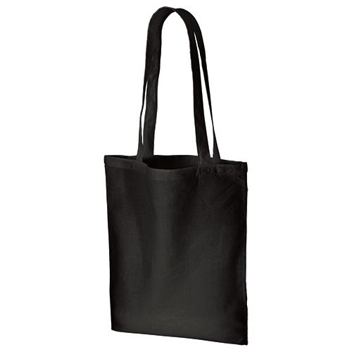 コットンナチュラルショルダートート:ブラックの商品画像