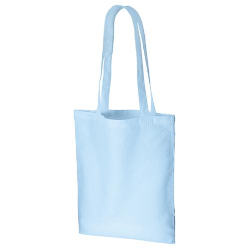 コットンナチュラルショルダートート:ライトブルーの商品画像