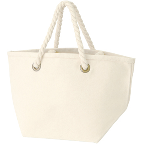 ロープハンドルコットントートバッグ:ナチュラルの商品画像