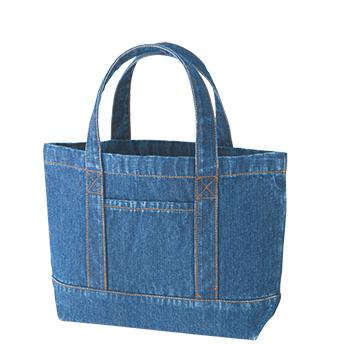デニムライントート:ウォッシュブルーの商品画像