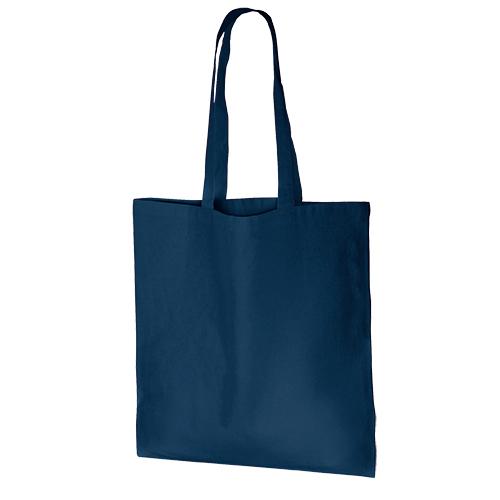 厚手コットンバッグ(L):ネイビーの商品画像