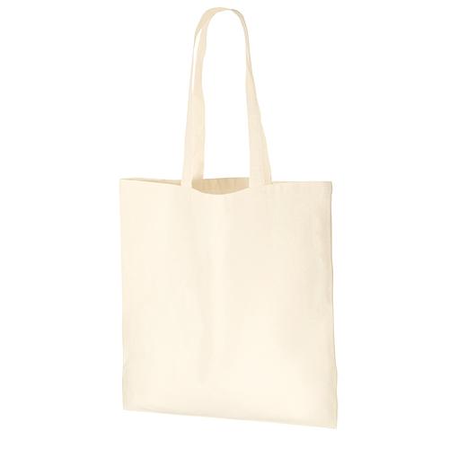 厚手コットンバッグ(L):ナチュラルの商品画像
