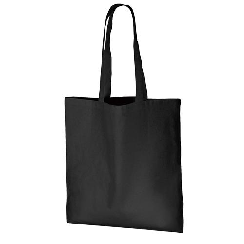 厚手コットンバッグ(L):ブラックの商品画像