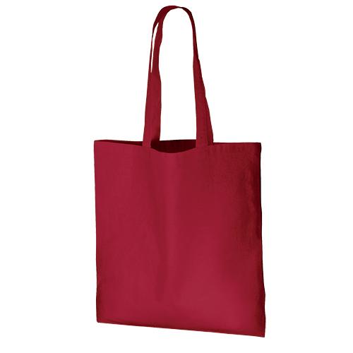 厚手コットンバッグ(L):ワインレッドの商品画像