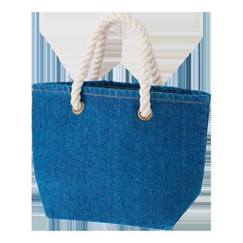 デニムロープトートバッグ(S):ウォッシュブルーの商品画像