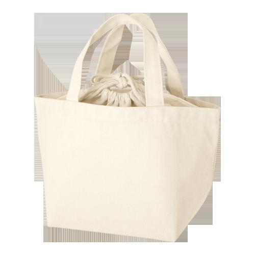 巾着付コットントートバッグSの商品画像