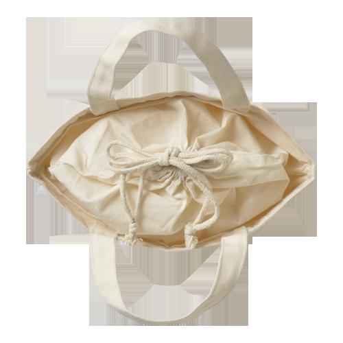 巾着付コットントートバッグSのサンプルイメージ画像4