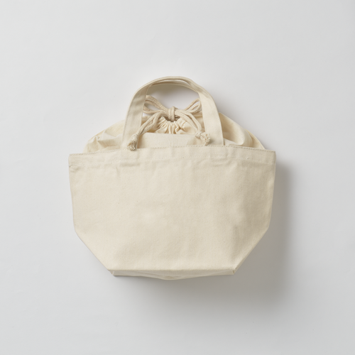 巾着付コットントートバッグSのサンプルイメージ画像7