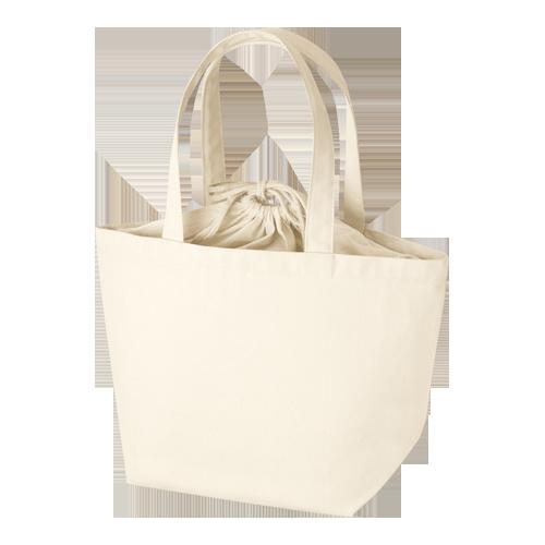 巾着付コットントートバッグM:ナチュラルの商品画像