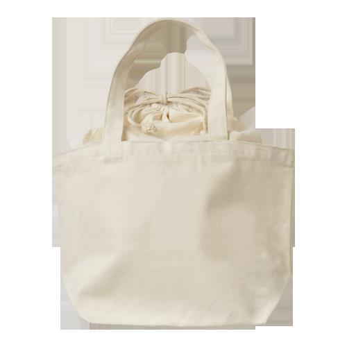 巾着付コットントートバッグMのサンプルイメージ画像4