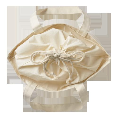 巾着付コットントートバッグMのサンプルイメージ画像5