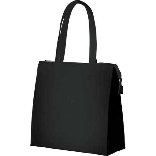 キャンバススクエア保冷トート(M):ブラックの商品画像