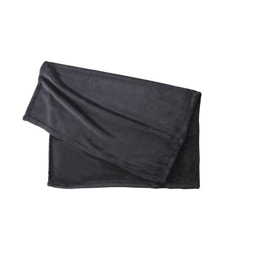 フリースブランケット(巾着付):ブラックのメイン画像