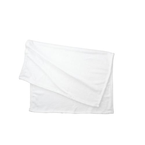 フリースブランケット(巾着付):ホワイトのメイン画像
