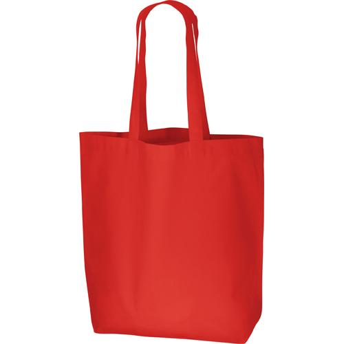 コットンバッグ(L):レッドの商品画像