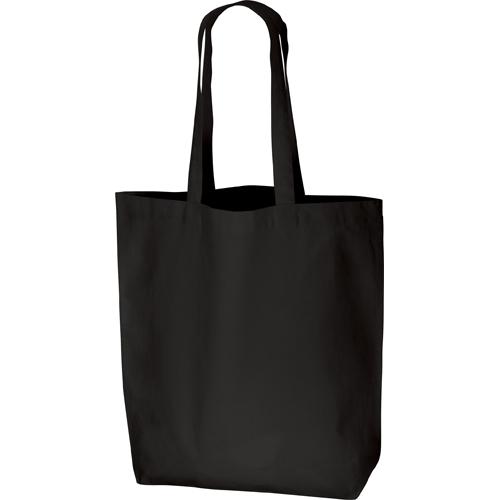 コットンバッグ(L):ブラックの商品画像