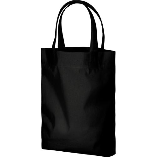 コットンガゼットマチ付バッグ(M):ブラックの商品画像