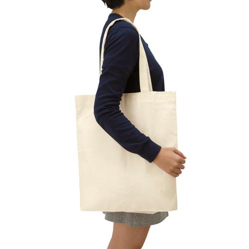 コットンガゼットマチ付バッグ(L)のサンプルイメージ画像2