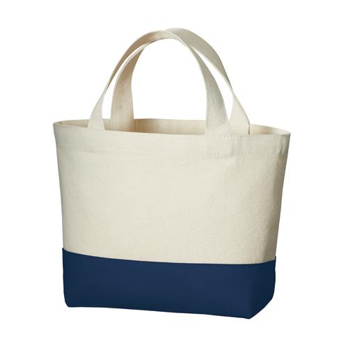 キャンバスカラーボトムトート(S):ミッドナイトブルーの商品画像