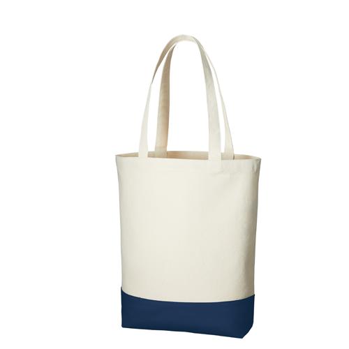 キャンバスカラーボトムトート(M):ミッドナイトブルーの商品画像