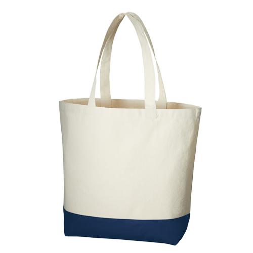 キャンバスカラーボトムトート(L):ミッドナイトブルーの商品画像