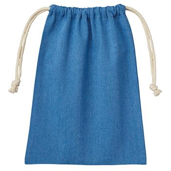 シャンブリック巾着(M):ブルーのメイン画像