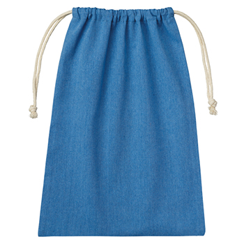 シャンブリック巾着(L):ブルーの商品画像