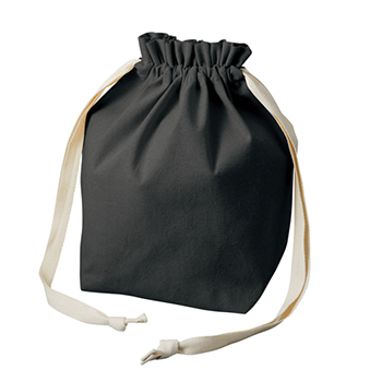 厚手コットン マロントート:ブラックのメイン画像