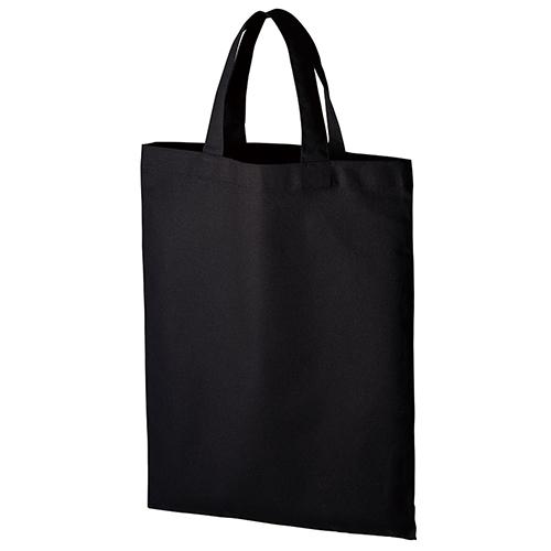 厚手コットンA4フラットトート:ブラックの商品画像