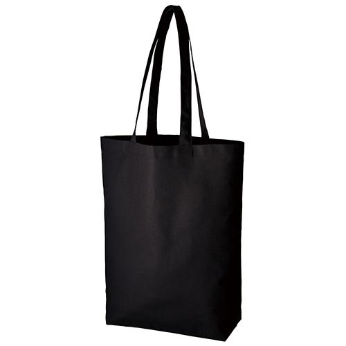 厚手コットンベーシックトート(M):ブラックの商品画像