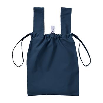 クルリト デイリー 巾着バッグ:ネイビーの商品画像