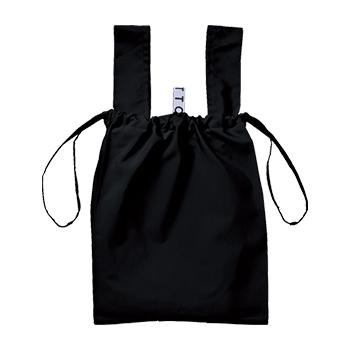 クルリト デイリー 巾着バッグ:ブラックの商品画像