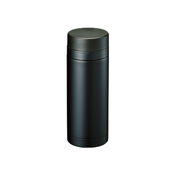 スリムサーモ ステンレスボトル 200ml:ブラックの商品画像