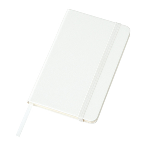 ハードカバーミニノート(罫線):ホワイトのメイン画像
