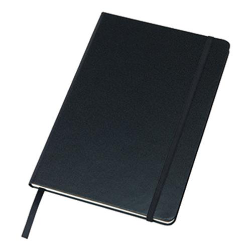 ハードカバーノート(罫線):ブラックのメイン画像