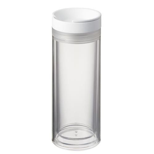 カスタムデザインタンブラー ダブルクリアストレート:ホワイトのイメージ画像