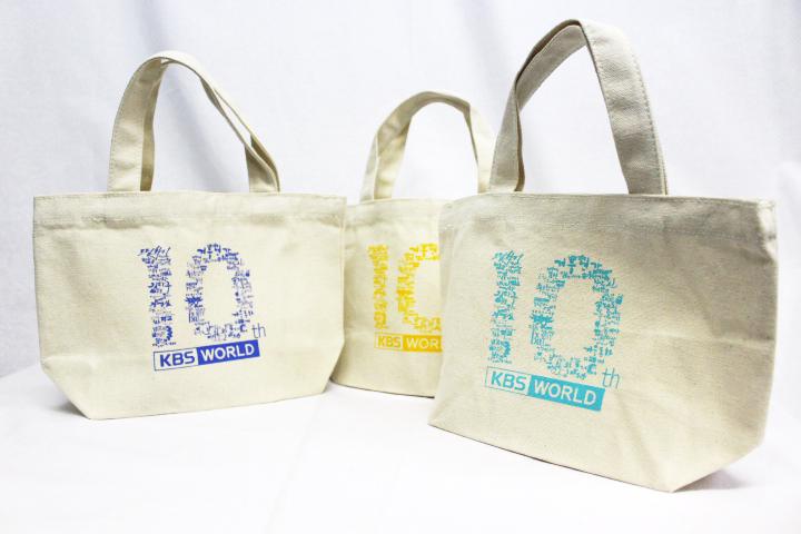 10周年記念イベント用のトートバッグ