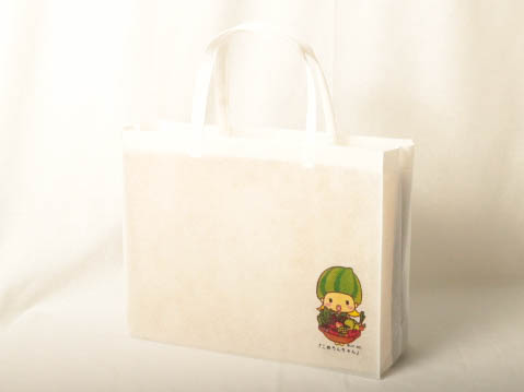 青果店のオリジナル不織エコバッグ